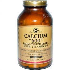 """Кальций """"600"""" из раковин устриц, с витамином D3, 240 таблеток"""