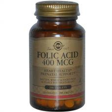 Фолиевая кислота, 400 мкг, 250 таблеток
