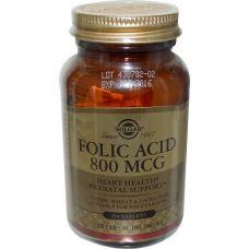 Фолиевая кислота, 800 мкг,  250 таблеток
