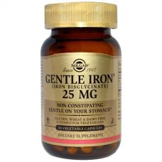 Железо легкоусвояемое, 25 мг, 90 капсул