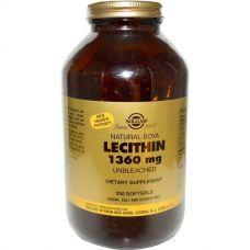 Лецитин, Lecithin, 1360 мг, 250 капсул