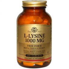 L-лизин, 1000 мг, 100 таблеток