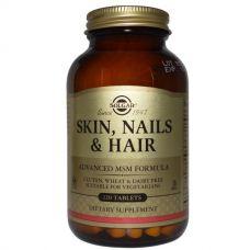 Кожа, ногти и волосы, улучшенная МСМ формула, 120 таблеток