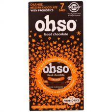 Пробиотик Ohso, бельгийский шоколад, 7 батончиков, 14 г каждый