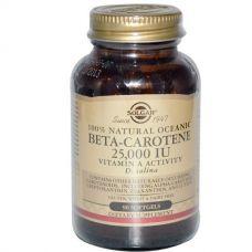Бета-каротин (Beta-Carotene), 25000 МЕ, 90 таблеток