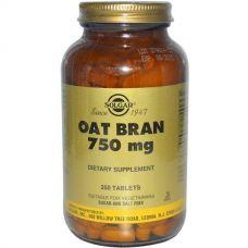 Овсяные отруби, 750 мг, 250 таблеток
