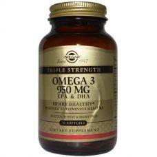 Рыбий жир Омега-3 ЭПК и ДГК, 950 мг, 50 капсул