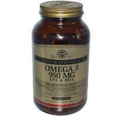 Рыбий жир, Омега 3 (Omega-3 EPA, DHA), 950 мг, 100 капсул