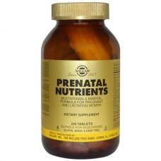 Витамины для беременных, Prenatal Nutrients, 240 таблеток от Solgar