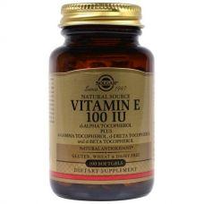 Витамин Е, 100 ME, 100 капсул