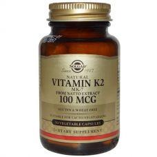 Витамин K2, 100 мкг, 50 капсул