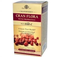 Cran Flora, с пробиотиками, 60 капсул