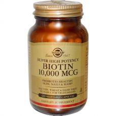 Биотин 10000 мкг, 120 капсул