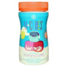 Жевательный кальций с Д3 для детей U Cubes, 60 конфет
